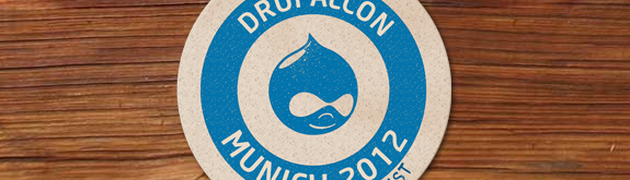 Screenshot der Website der DrupalCon Munich 2012